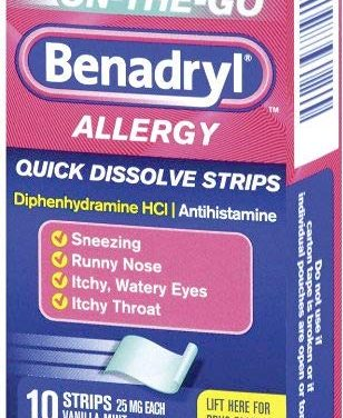 Why Benadryl Quick Dissolve Strips Were So Valuable