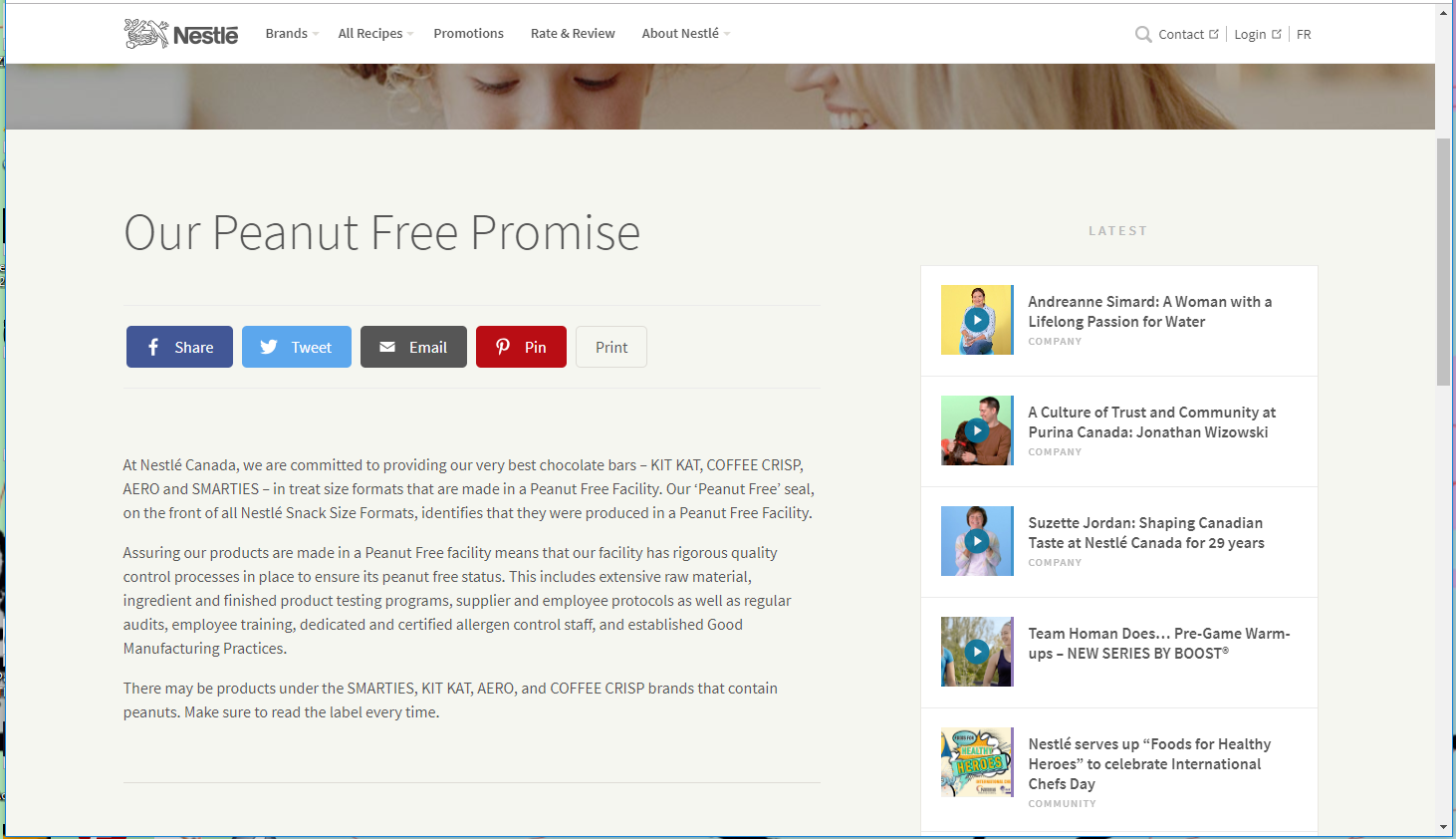 Nestle Kit Kat Peanut Free Promise